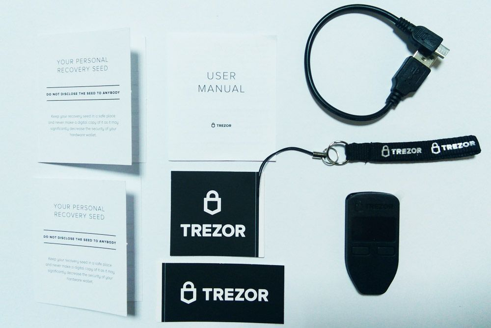 Partes del monedero Trezor One